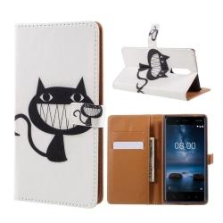 Nokia 8 Fodral med unikt motiv - Katt med smile