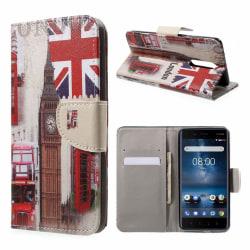 Nokia 8 mobilfodral syntetläder silikon stående plånbok - Bi
