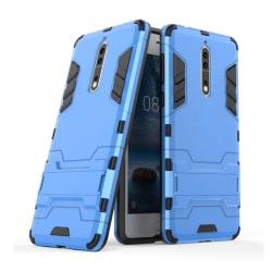 Nokia 8 Skal med kickstand funktion - Blå
