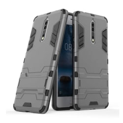 Nokia 8 Skal med kickstand funktion - Grå