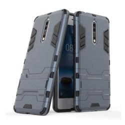Nokia 8 Skal med kickstand funktion - Mörk grå