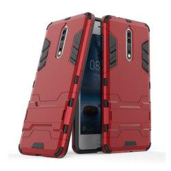 Nokia 8 Skal med kickstand funktion - Röd