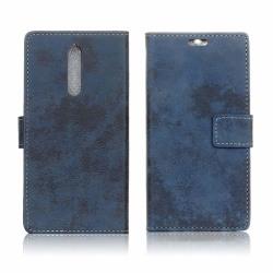 Nokia 8 Vintage fodral med magnet lås - Blå