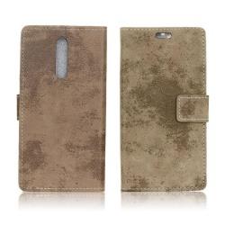Nokia 8 Vintage fodral med magnet lås - Grön