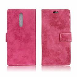 Nokia 8 Vintage fodral med magnet lås - Rosa