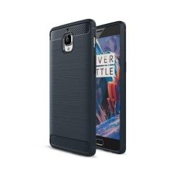 OnePlus 3 silikonskal med kolfiber textur - Mörkblå