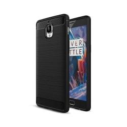 OnePlus 3 silikonskal med kolfiber textur - Svart