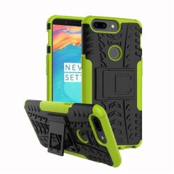 OnePlus 5T Hybird skal med kickstands funktion - Grön