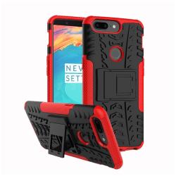 OnePlus 5T Hybird skal med kickstands funktion - Röd
