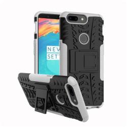 OnePlus 5T Hybird skal med kickstands funktion - Vit