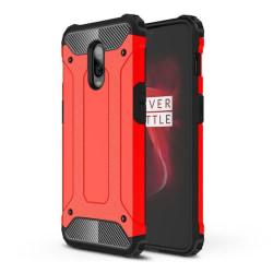 OnePlus 6T mobilskal av värmeavledande hybrid plast – Röd