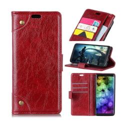 OnePlus 6T plånboks telefonfodral av syntet läder med magnet