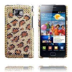Paris (Gyllene Leopard) Samsung Galaxy S2 Bling-Bling Skal