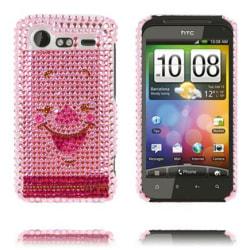 Paris (Rosa Gris) HTC Incredible S Bling-Bling Skal