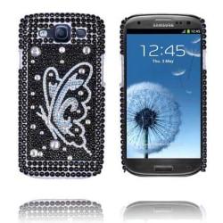 Paris (Silver Fjäril) Samsung Galaxy S3 Bling Skal