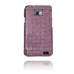 Paris Star (Ljusrosa) Samsung Galaxy S2 Skal med Bling-Bling