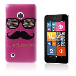 Persson (Glasögon & Mustasch - Knallrosa) Nokia Lumia 530 Sk