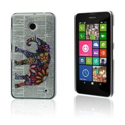 Persson Nokia Lumia 630/635 Skal - Blommaed Elefant & Tidnin
