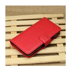 Plånboksfodral med stativ för Huawei Ascend Y330 - Röd