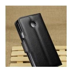 Plånboksfodral med stativ för Huawei Ascend Y330 - Svart