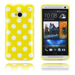 Polka Dots (Gul) HTC One Skal