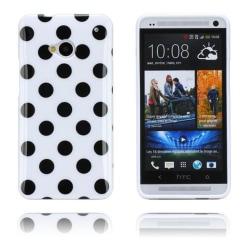 Polka Dots (Vit) HTC One Skal