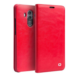 QIALINO Huawei Mate P10 Pro Klassiskt läder fodral - Röd