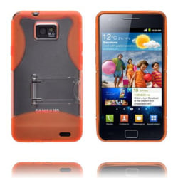 Quadro - Inbyggt stativ (Orange) Samsung Galaxy S2 Skal