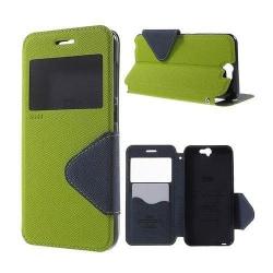 ROAR KOREA Fönster Läderfodral för HTC One A9 - Grön