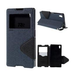 ROAR KOREA Sony Xperia Z5 Fodral med Smartview - Mörkblå