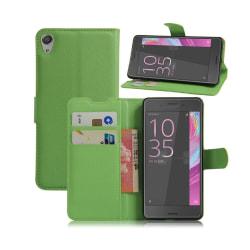 Rømer Sony Xperia E5 Litchi Läderfodral - Grön