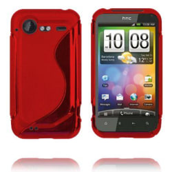 S-Line (Röd) HTC Incredible S Skal