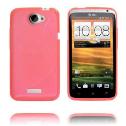 S-Line Transparent (Röd) HTC One X Skal