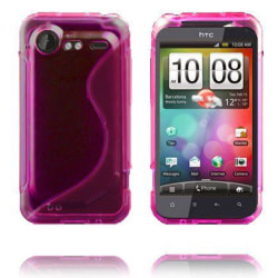 S-Line Transparent (Rosa) HTC Incredible S Skal
