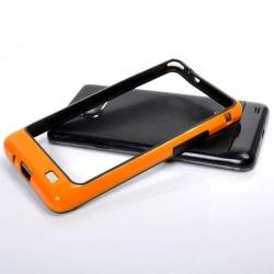 S2 Bumper Ver. III (Orange - Svart) Bumper för Samsung Galax