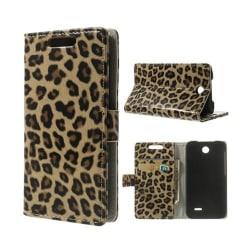 Safari (Leopard) HTC Desire 310 Läder Flip Fodral