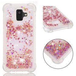 Samsung Galaxy A6 (2018) mobilskal silikon flytande glitter