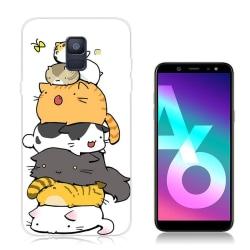 Samsung Galaxy A6 (2018) mobilskal silikon mönster - Kärleks