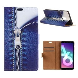 Samsung Galaxy A6 plus mobilfodral PU läder skyddande plånbo