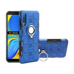 Samsung Galaxy A7 (2018) Geometriskt hybrid fodral - Babyblå
