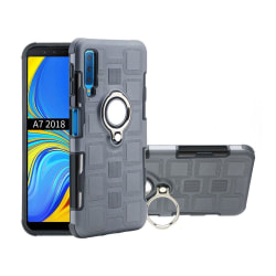 Samsung Galaxy A7 (2018) Geometriskt hybrid fodral - Grå