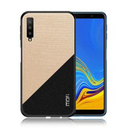 Samsung Galaxy A7 (2018) hybrid plast mobilskal med tyg yta