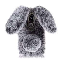 Samsung Galaxy A8 (2018) Skal med kanin design - Mörk grå