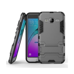 Samsung Galaxy J3 (2016) / J3 hybridskal med kickstand - Grå