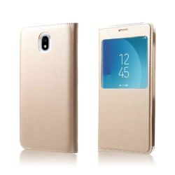 Samsung Galaxy J5 (2017) Enfärgat fodral med fönster - Guld