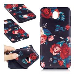 Samsung Galaxy J7 (2017) Flexibelt silikon skal - Röda blomm
