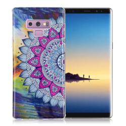 Samsung Galaxy Note9 ljusmönsterfodral - Mandala Flower