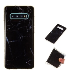 Samsung Galaxy S10 Plus mjuktfodral med granit mönster - Sty