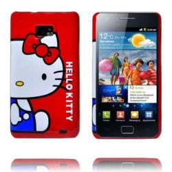 Samsung Galaxy S2 Hello Kitty Skal (Röd - Blå Klänning)