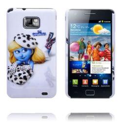 Samsung Galaxy S2 Smurf Skal (Prickiga Smurfan)